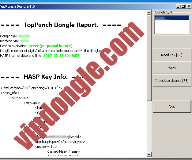 Euromac TopPunch Control Software Hasp SRM Dongle | Vip